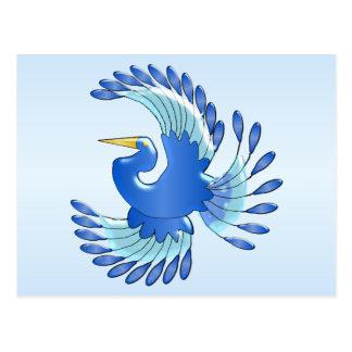 Blauwe Paradijsvogel Briefkaart