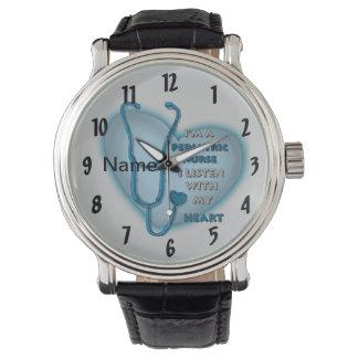 Blauwe Pediatrische Verpleegster Horloge