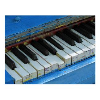 Blauwe Piano Briefkaart