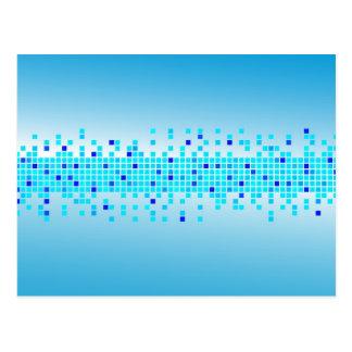 Blauwe Pixel Briefkaart