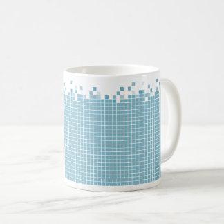 Blauwe Pixel Geek Koffiemok