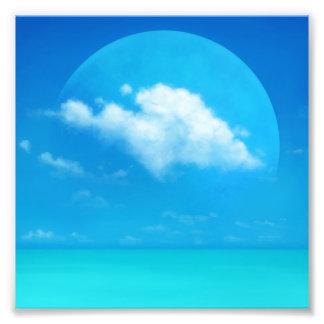 Blauwe Planeet Fotografische Afdruk