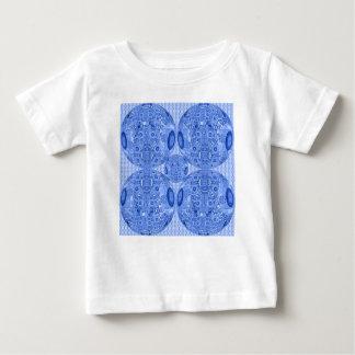 Blauwe Psychedelische Gebieden Baby T Shirts