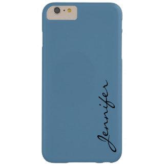 Blauwe (R.A.F.) de kleurenachtergrond van de Barely There iPhone 6 Plus Hoesje