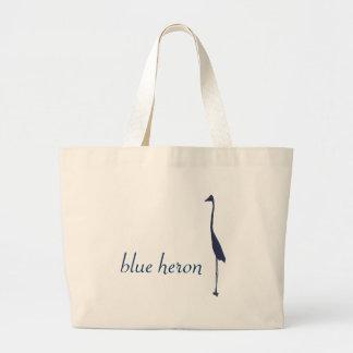 blauwe reiger grote draagtas