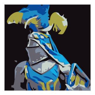 Blauwe Ridder Perfect Poster
