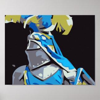 Blauwe Ridder Poster
