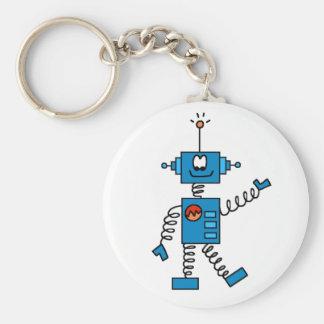 Blauwe Robot Sleutelhanger