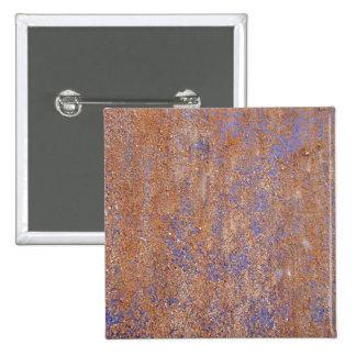Blauwe Roest Vierkante Button 5,1 Cm