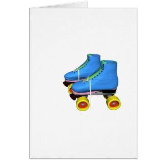 Blauwe Rolschaatsen Wenskaart