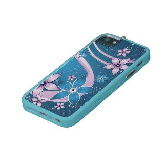 blauwe roze bloemen - vectorart.