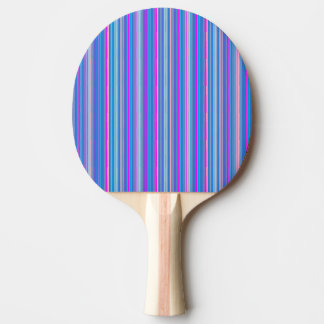 blauwe roze gestreepte pingpongpeddel tafeltennis bat