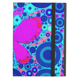Blauwe Roze van het Mozaïek van de Cirkel van de iPad Air Hoesje
