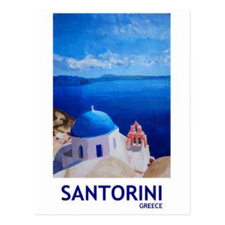 Blauwe Santorini, Griekenland - Uitzicht van Oia Briefkaart