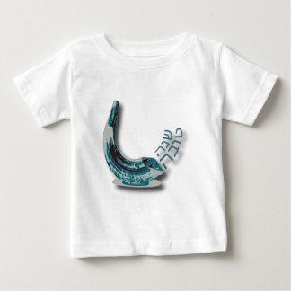 Blauwe Shofer Shana Tova Baby T Shirts