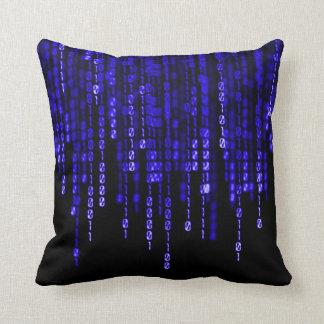 Blauwe Spook Binaire Code Sierkussen