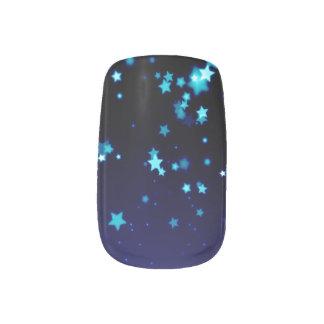 Blauwe Sterren - Minx de Kunst van de Spijker, Minx Nail Folie