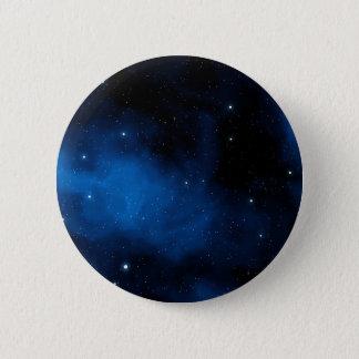 Blauwe Sterrige Hemel Ronde Button 5,7 Cm