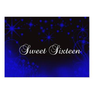 Blauwe Sterrige Hemel, Snoepje Zestien, Douane 12,7x17,8 Uitnodiging Kaart