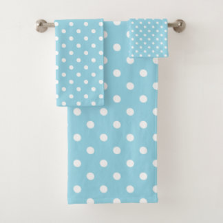 Blauwe Stip Bad Handdoek