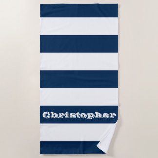 Blauwe Streep Strandlaken