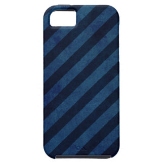 Blauwe Strepen Grunge Tough iPhone 5 Hoesje
