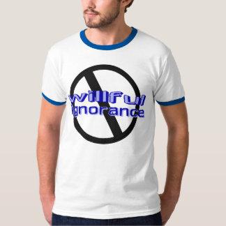 Blauwe) T-shirt de opzettelijke van de