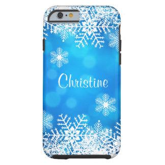 Blauwe Taaie iPhone 6 van de Sneeuwvlok van Tough iPhone 6 Hoesje