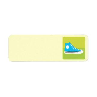 Blauwe Tennisschoen Etiket