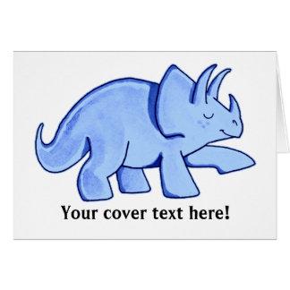 Blauwe Triceratops Kaart