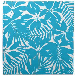 Blauwe tropisch servet