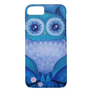 blauwe uil iPhone 8/7 hoesje