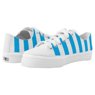 Blauwe Verticale Strepen Low Top Schoenen
