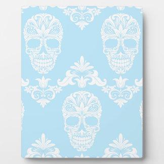 blauwe Victoriaans schedels Fotoplaat