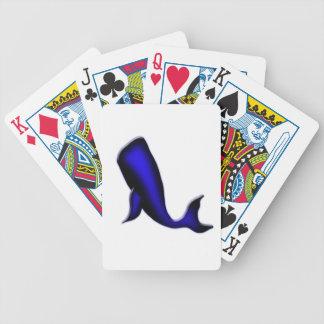 blauwe vinvis pak kaarten