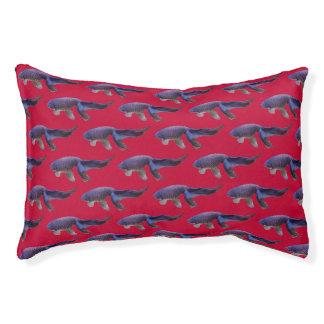 blauwe vissen op roze hondbed hondenbedden