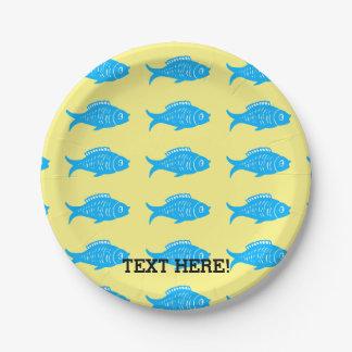 Blauwe Vissen Papieren Bordje