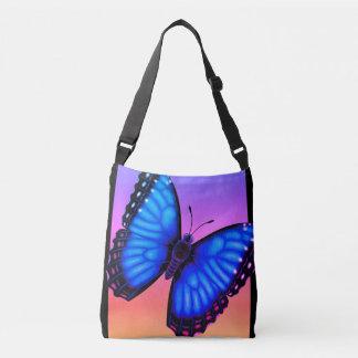 Blauwe Vlinder Morpho Dorsaal en Buik Crossbody Tas