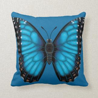 Blauwe Vlinder Morpho Dorsaal en Buik Sierkussen