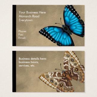 Blauwe Vlinder Morpho Dorsaal en Buik Visitekaartjes