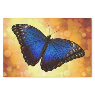 Blauwe Vlinder Morpho Tissuepapier