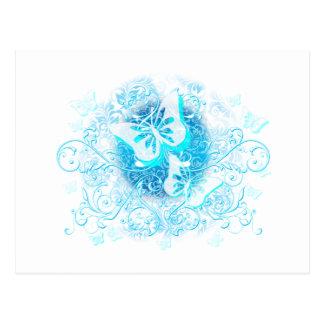 Blauwe Vlinder Stammen Briefkaart