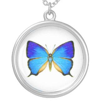Blauwe Vlinder Zilver Vergulden Ketting