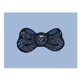 Blauwe Vlinderdas Briefkaart