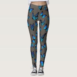 blauwe vlinders - beenkappen leggings