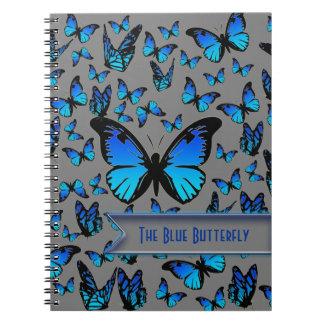 blauwe vlinders ringband notitie boek