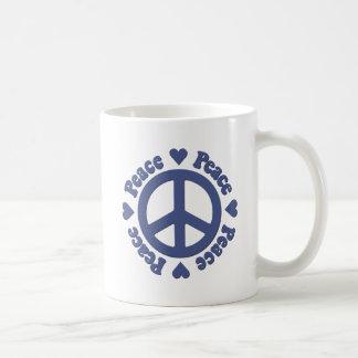Blauwe Vrede en Liefde Koffiemok