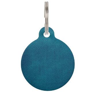 Blauwe Waterverf Huisdierpenning