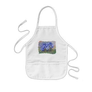 Blauwe Wildflowers in Schilderen van de Kunst van Kinder Schort