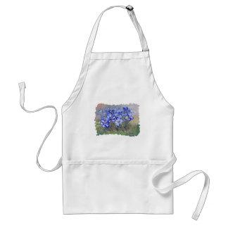 Blauwe Wildflowers in Schilderen van de Kunst van Standaard Schort